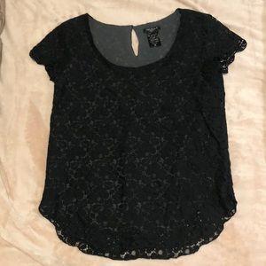Talula Black Lace Top